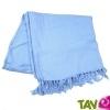 TOUT ALLANT VERT: Chèche en coton bio Bleu clair, teinture écologique