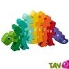 TOUT ALLANT VERT: Puzzle en bois dinosaure avec nombres de 1 à 10