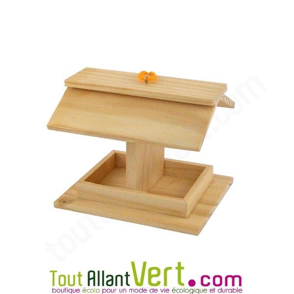 Mangeoire pour oiseaux en bois pin FSC à décorer achat vente