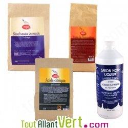Kit l indispensable du nettoyage 100 colo achat vente cologique acheter sur - Traitement savon noir bicarbonate ...
