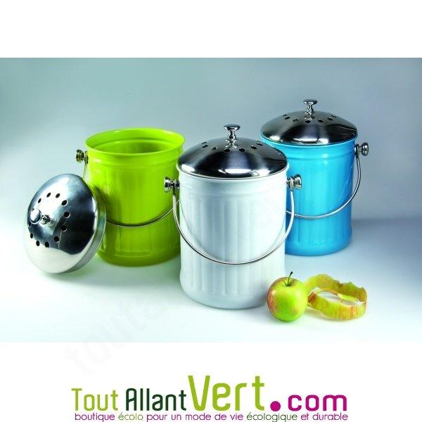 Poubelle compost anti odeur pour cuisine 4 litres achat - Seau a compost pour cuisine ...