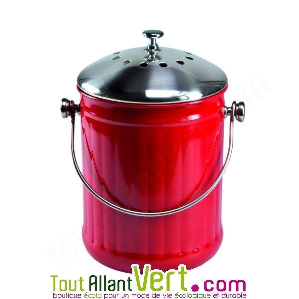 Poubelle compost cuisine maison design for Poubelle rouge cuisine