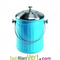 Poubelle compost bleu anti odeur pour cuisine 4 litres for Seau compost cuisine