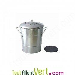 Poubelle de table compost anti odeurs pour cuisine 5 - Seau a compost pour cuisine ...