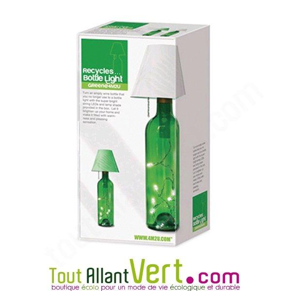 Kit recyclage bouteille en clairage d co abat jour blanc for Deco 8 jours pour tout changer