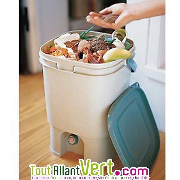 bokashi poubelle composteur int rieur sans vers cuisine. Black Bedroom Furniture Sets. Home Design Ideas