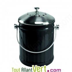 Poubelle compost noir anti odeur pour cuisine 4 litres for Seau compost cuisine