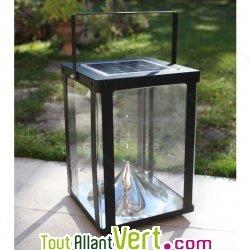 Photophore d clairage solaire pour jardin ou terrasse watt home - Grand photophore jardin ...