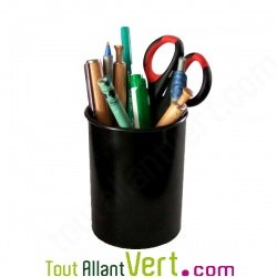 pot pour crayon de bureau en plastique recycl rond et noir mgreen. Black Bedroom Furniture Sets. Home Design Ideas