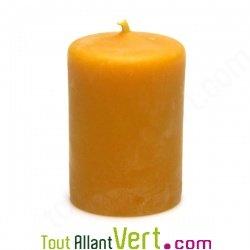 Bougie en cire d abeille forme cylindre et couleur jaune - Objet cylindrique 94 ...