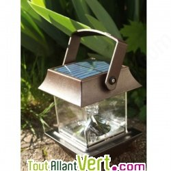 Lampe solaire pour table ou terrasse pagode for Lampe solaire pour poteau de terrasse