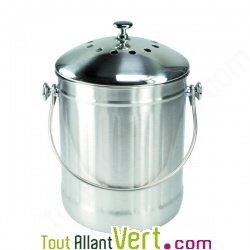 Poubelle compost inox anti odeur pour cuisine 4 litres - Seau a compost pour cuisine ...