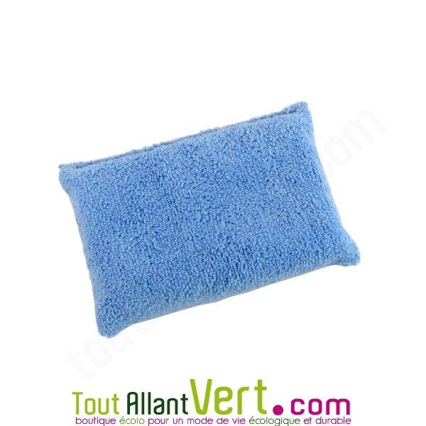 Eponge bleu microfibre pour un nettoyage colo sans produits et sans trace - Chiffon microfibre pour vitres sans produit ...