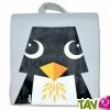 TOUT ALLANT VERT: Sac à dos enfant Pingouin coton bio 23 x 23 x 7.5 cm