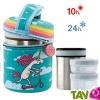 TOUT ALLANT VERT: Lunch Box 1L isotherme inox avec 2 compartiments et housse de protection Licorne