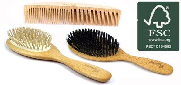 brosse a cheveux naturelle
