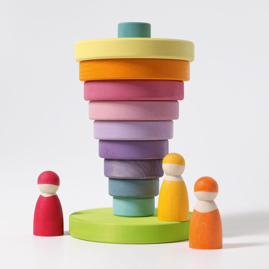 Pyramide couleurs pastels, photo par Grimm's
