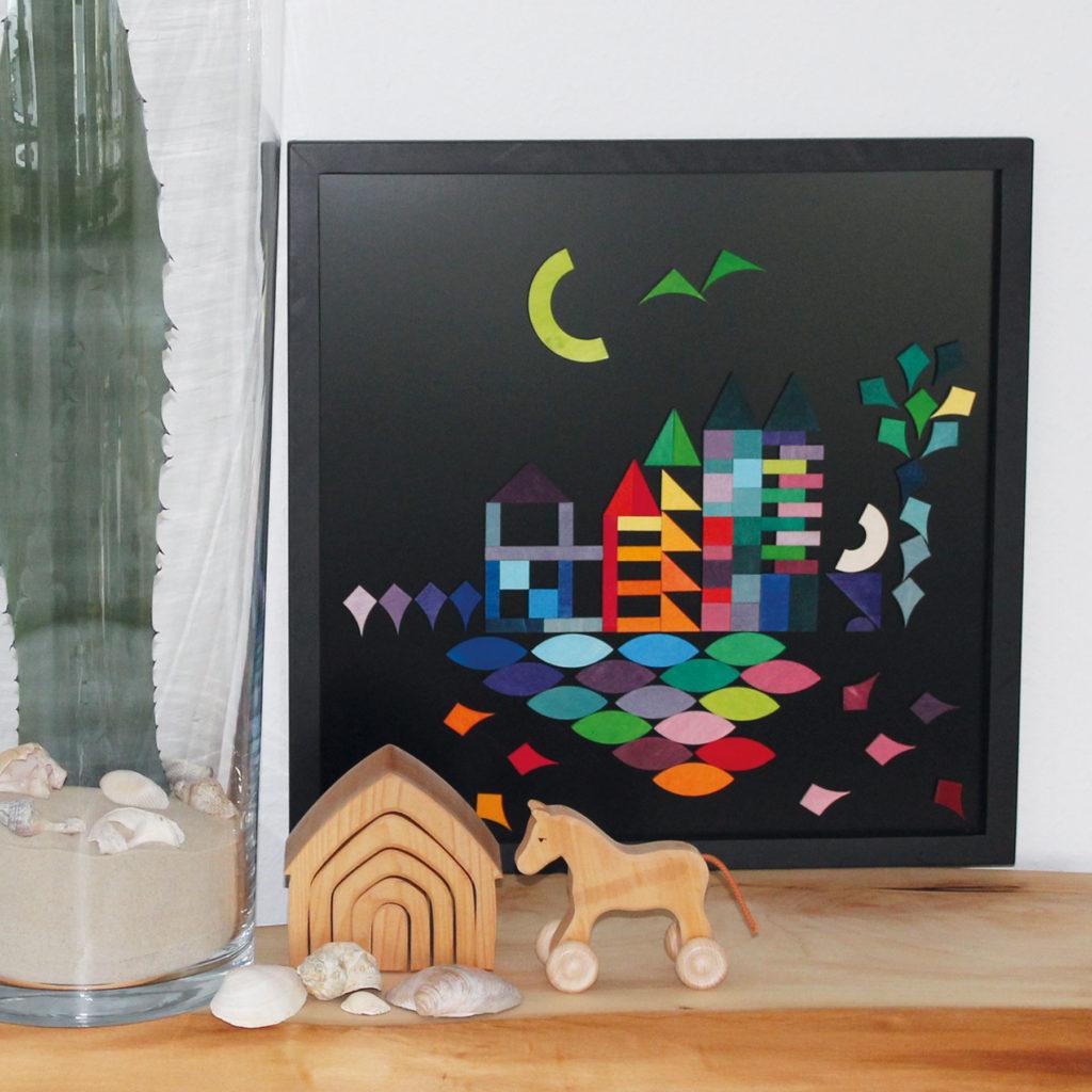 Tableau noir et magnets, photo par Grimm's