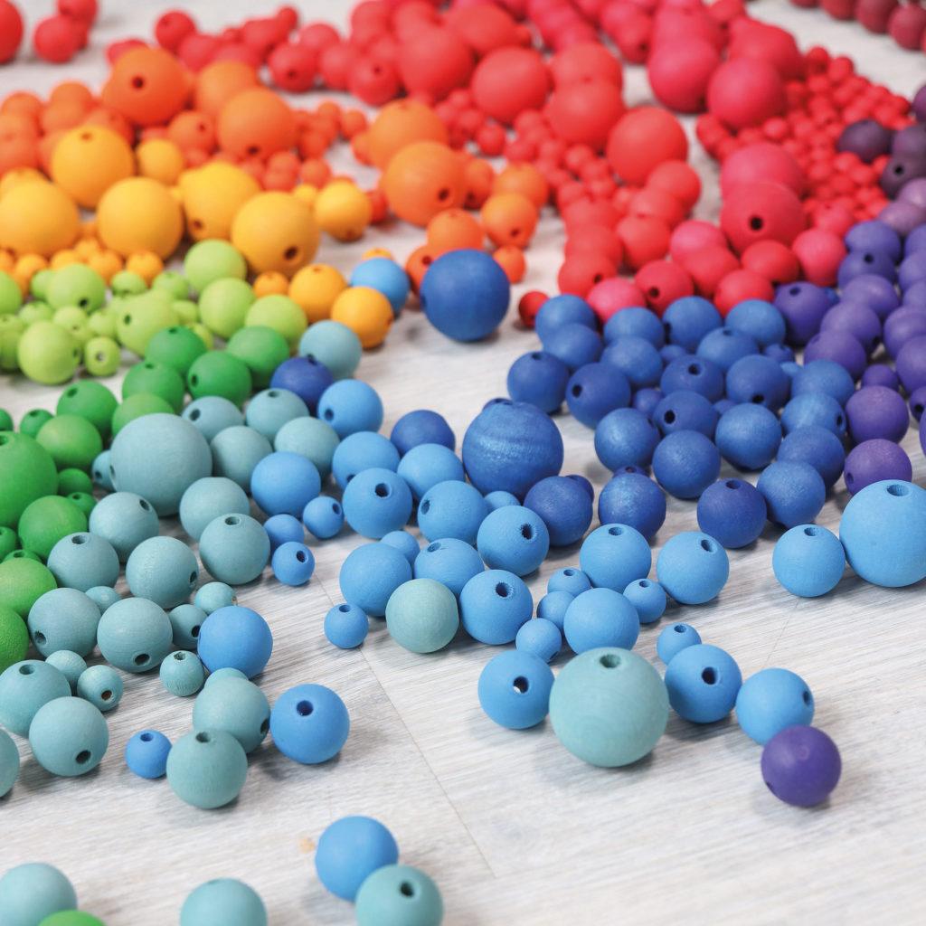 Perles multicolores, photo par Grimm's