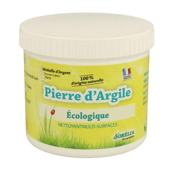 Pierre d'Argile : nettoyant 100% naturel, pot de 550g + éponge