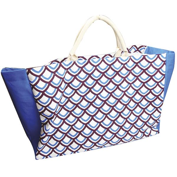 Grand sac cabas coton biologique Ecaille, 50x35 cm