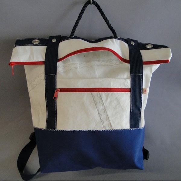 Grand sac à dos en voile de bateau recyclé, 42 cm